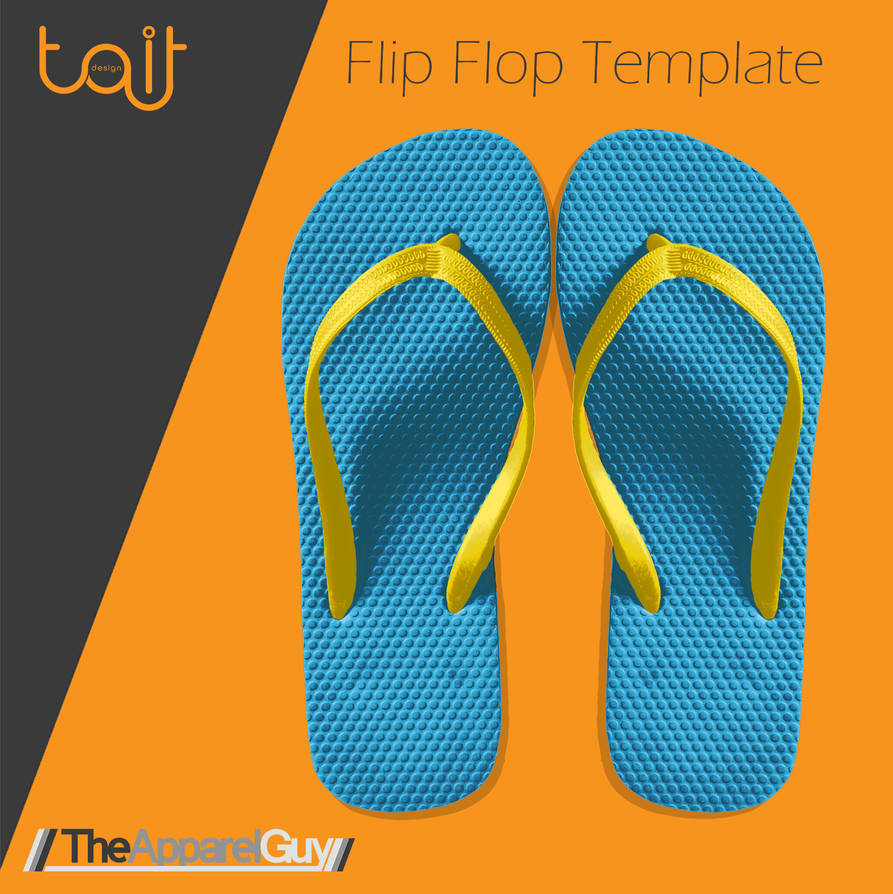 600f05ef0 Flip Flop Template by TheApparelGuy on DeviantArt