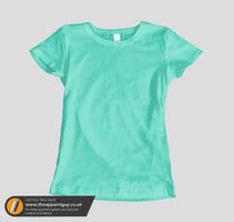 Women's Short Sleeved Tee PSD by TheApparelGuy