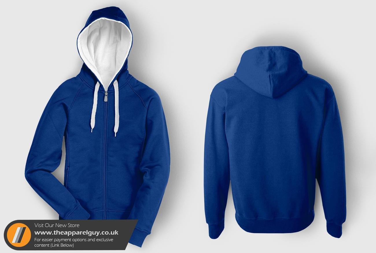 New Hood-Up Zip Hoodie Template