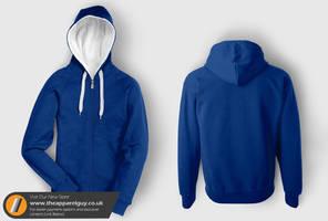 New Hood-Up Zip Hoodie Template by TheApparelGuy