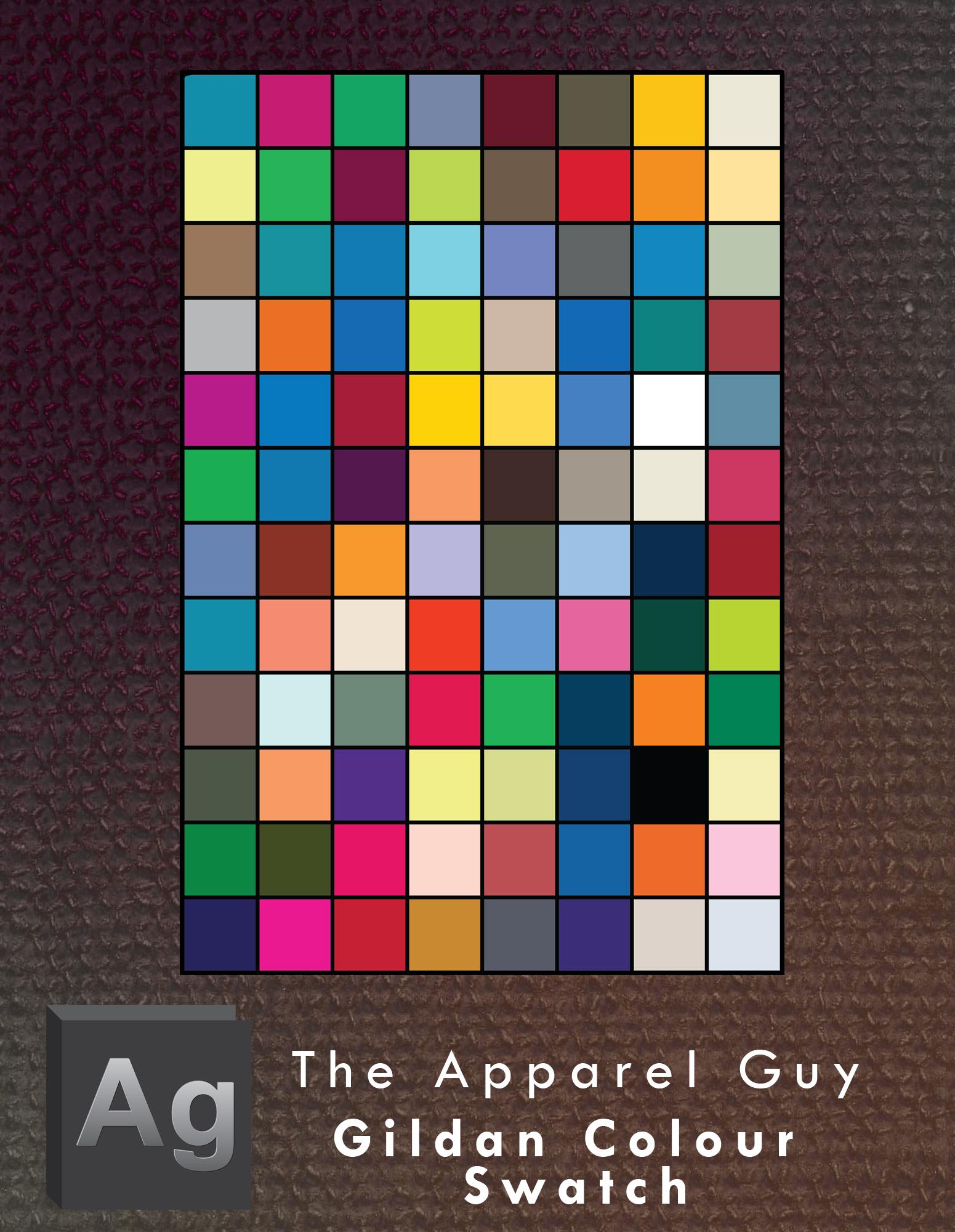 Gildan Apparel Colour Swatches