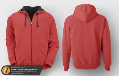 Hoodie Template with Back by TheApparelGuy