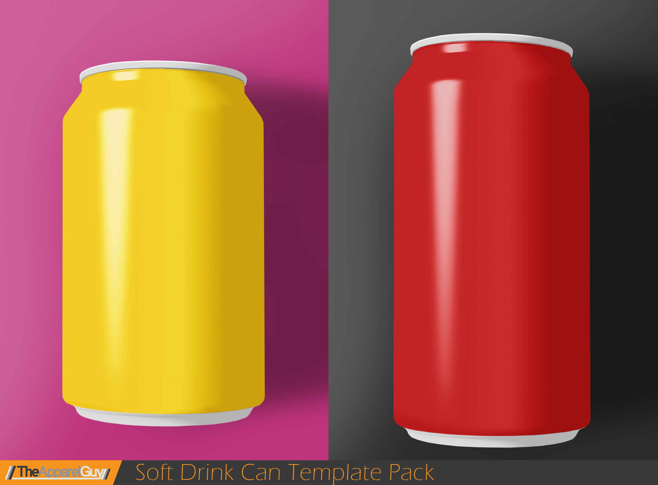 Soft Drink Can Template Pack by TheApparelGuy