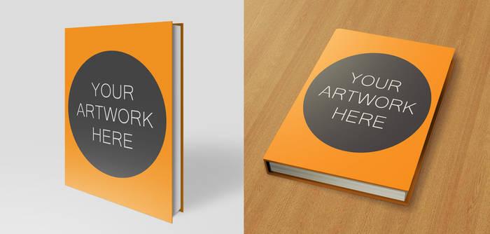 Hardback Book Mock Up Pack 8.5x11