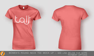 Women's Round Neck Tee Mock Up