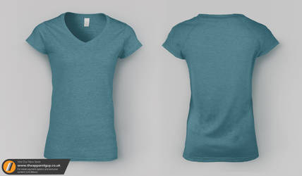 Women's V-Neck Tee Mock Up