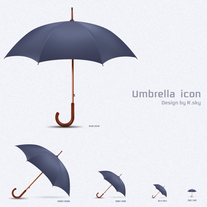umbrella icon by Rskys