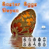 Easter Eggs Dozen by flashtuchka