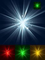sparkling burst of light by flashtuchka