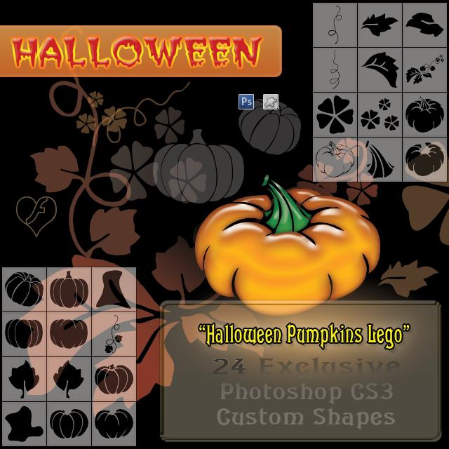 Halloween Pumpkin 'Lego'
