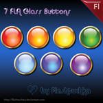 7 FLA Glass Buttons