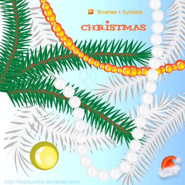 Christmas Tree ai Brushes