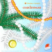 Christmas Tree ai Brushes by flashtuchka