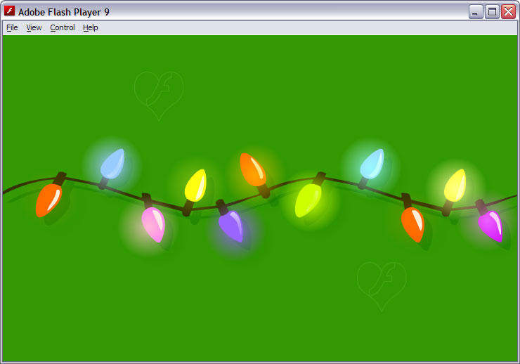 christmas lights garland fla by flashtuchka