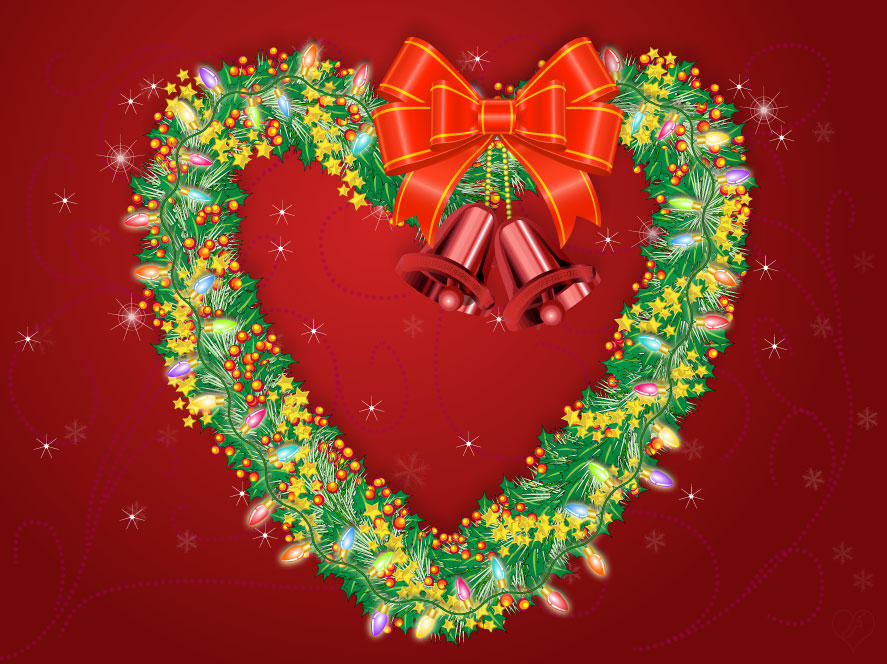 Heart shaped christmas wreath by flashtuchka on deviantart