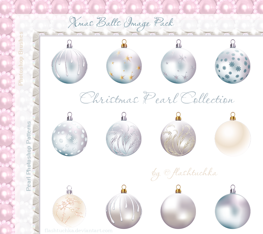Xmas Balls on Transparent by flashtuchka