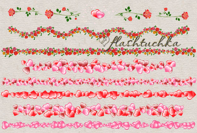 Pink Hearts Valentine Dividers