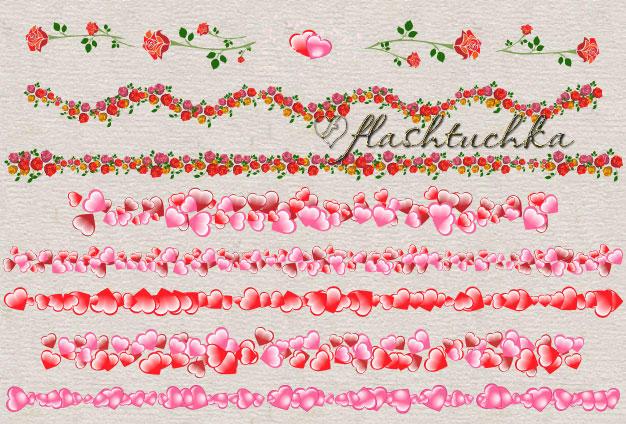 Pink Hearts Valentine Dividers by flashtuchka