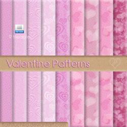 9 tileable Valentine Patterns by flashtuchka