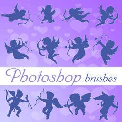 Valentine Cupids Photoshop Bryshes by flashtuchka