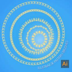 Adobe iLLustrator Pattern Brushes by flashtuchka