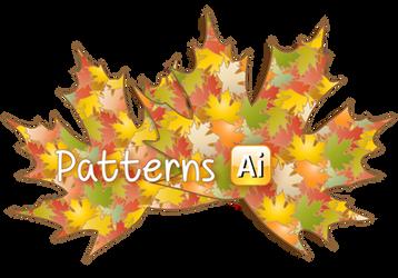2 Autumn Leaves Illustrator Patterns