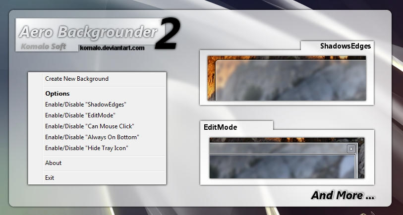 AeroBackgrounder for Vista,7 by komalo