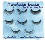 8 Eyelashes Brushes - for PsP