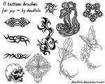 11 Tattoos Brushes - for psp
