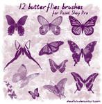 12 Butterflies Brushes for psp