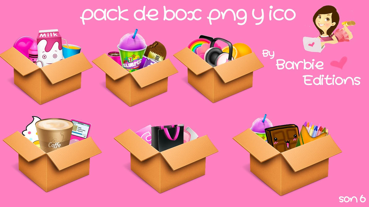 Pack de box png y ico by BarbieEditionsYT