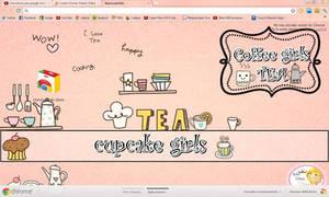 tema de google chrome Coffee Girls Tea le Cupcake by BarbieEditionsYT