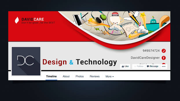 .: Facebook cover PSD #1 :. by DigitalConnection