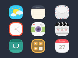 .: Flat Icons PSD :. by DigitalConnection