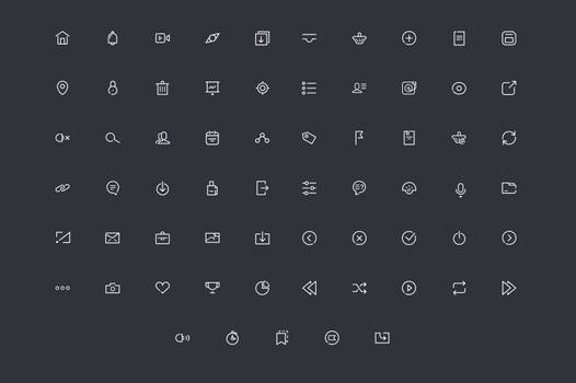 .: Line Icons Vector :.