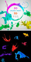 .: Splash Paint 3D - PSD :.