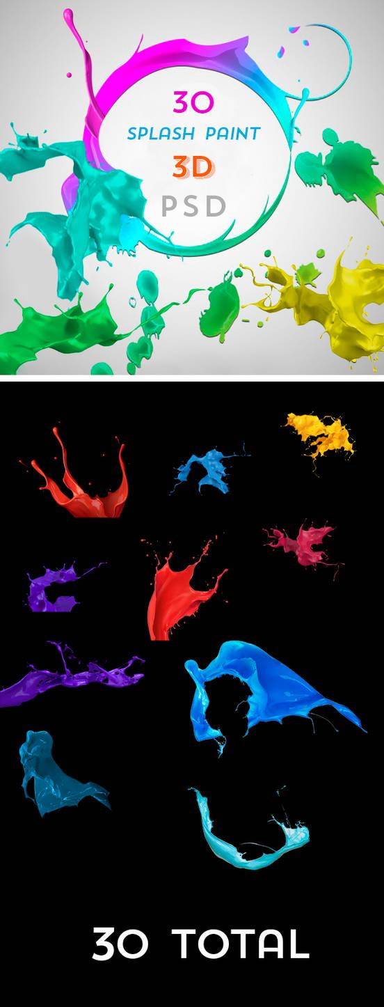 .: Splash Paint 3D - PSD :.