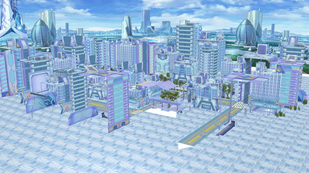 (MMD DL) HD Neptunia Planeptune City