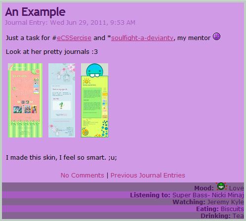 Simple Purple CSS by nikkittie