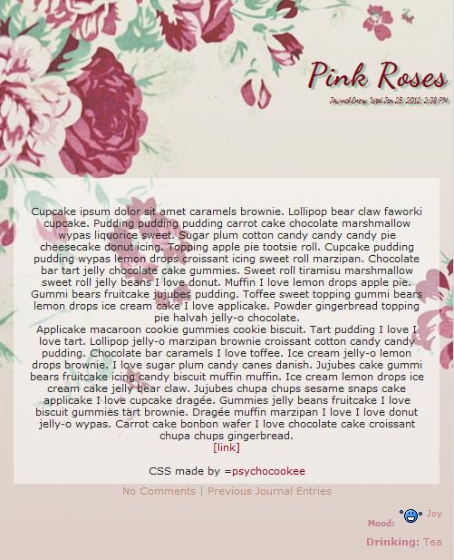 Roses CSS by nikkittie