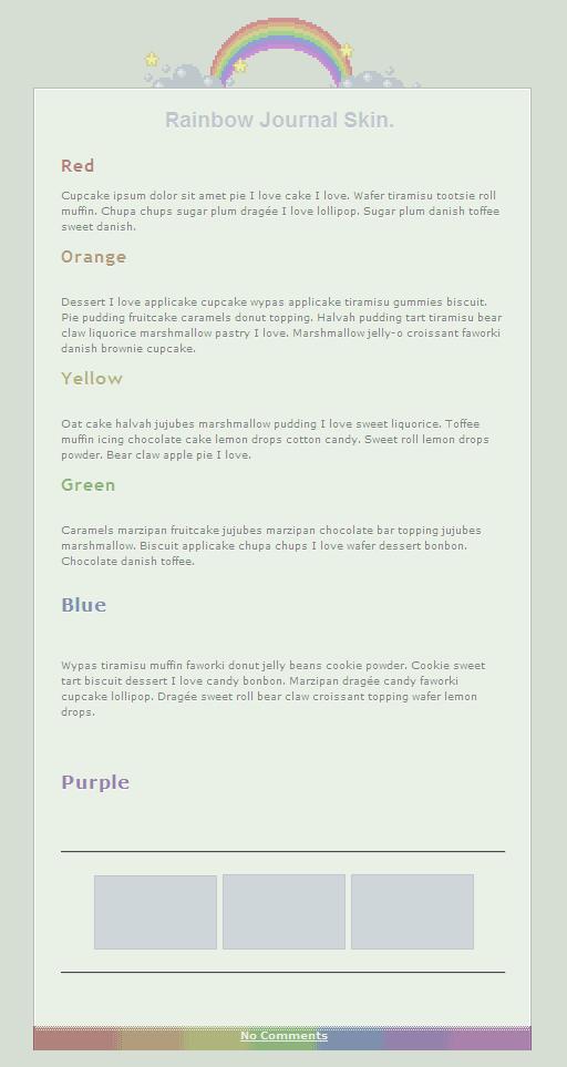 Rainbow Pixel Journal Skin by nikkittie