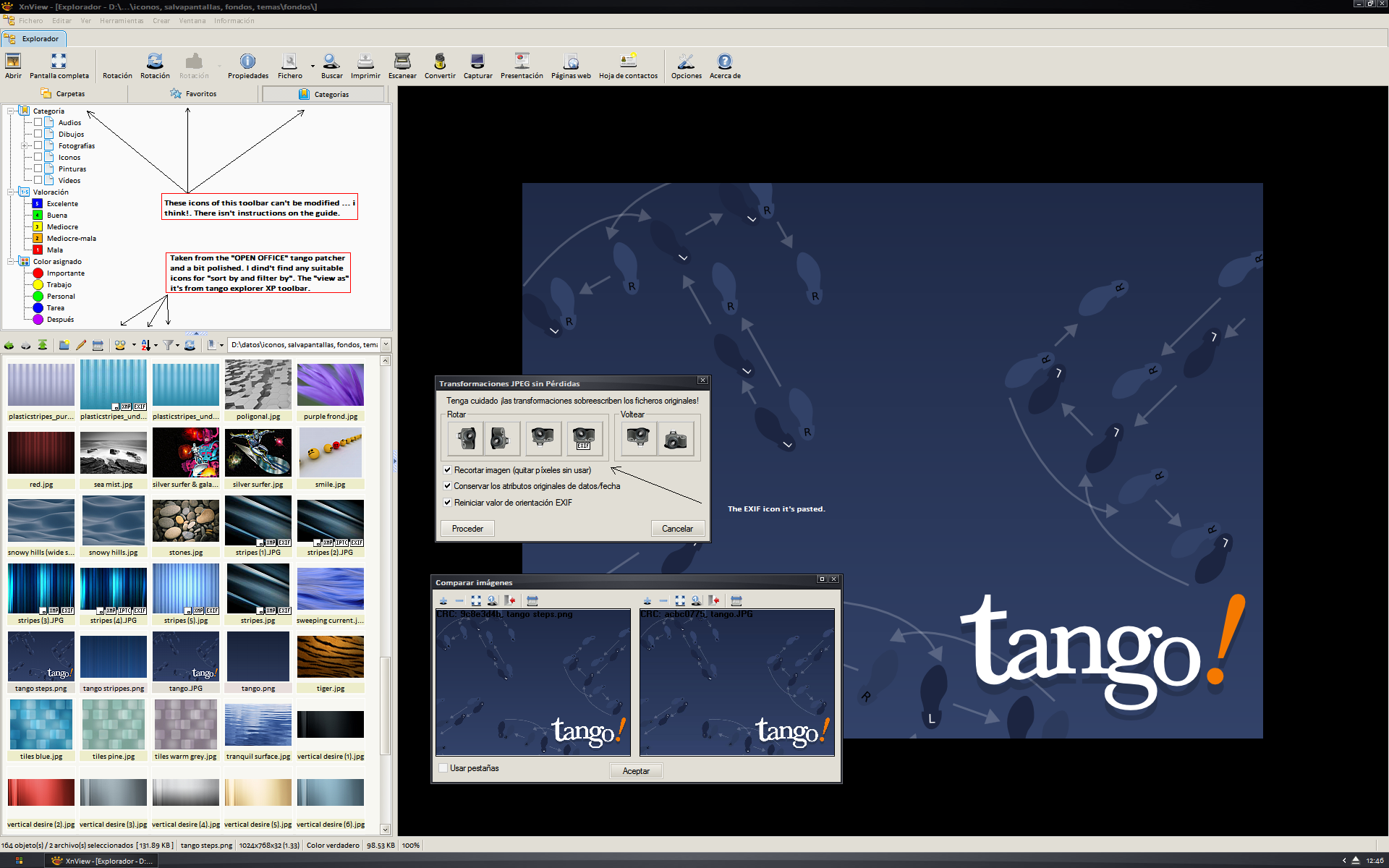 Tango XnView Toolbars by orbtwin