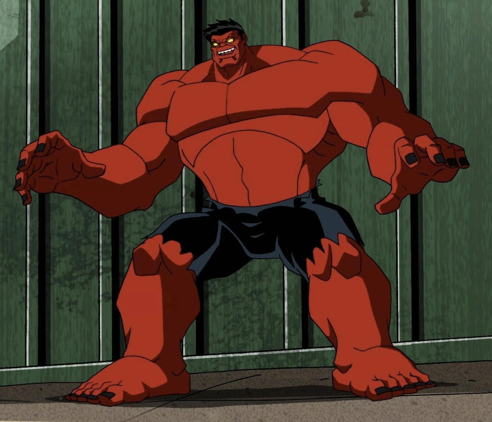 Villains as heroes - Red Hulk by Jimma1300 on DeviantArt