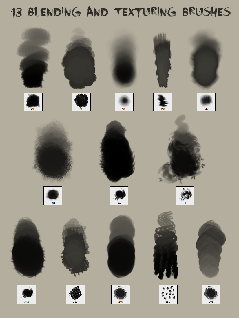 13 Blending and Texturing Brushes by god-head on DeviantArt