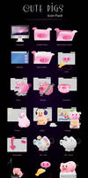 Cute Pigs Icon Pack