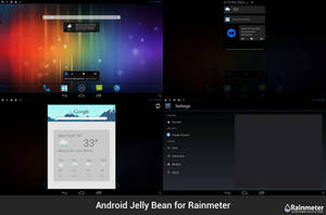 Android Jelly Bean for Rainmeter by ScoobSTi