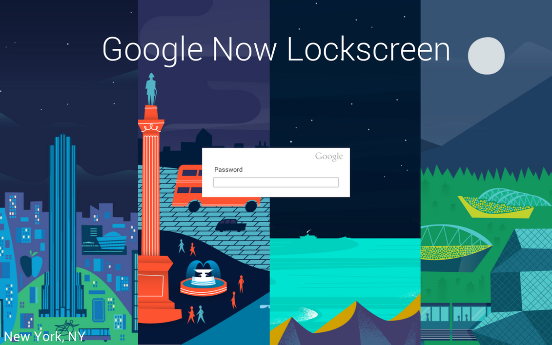 Google Now Lockscreen by ScoobSTi