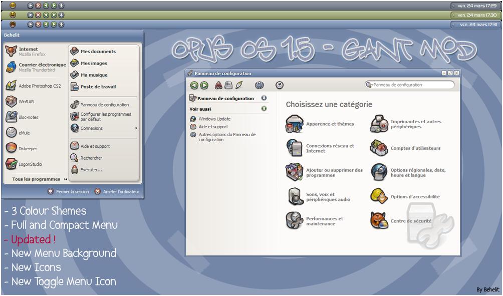 OpusOS 1.5 - GANT Mod by Behelit