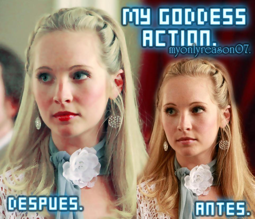 Action My goddess by myonlyreason07