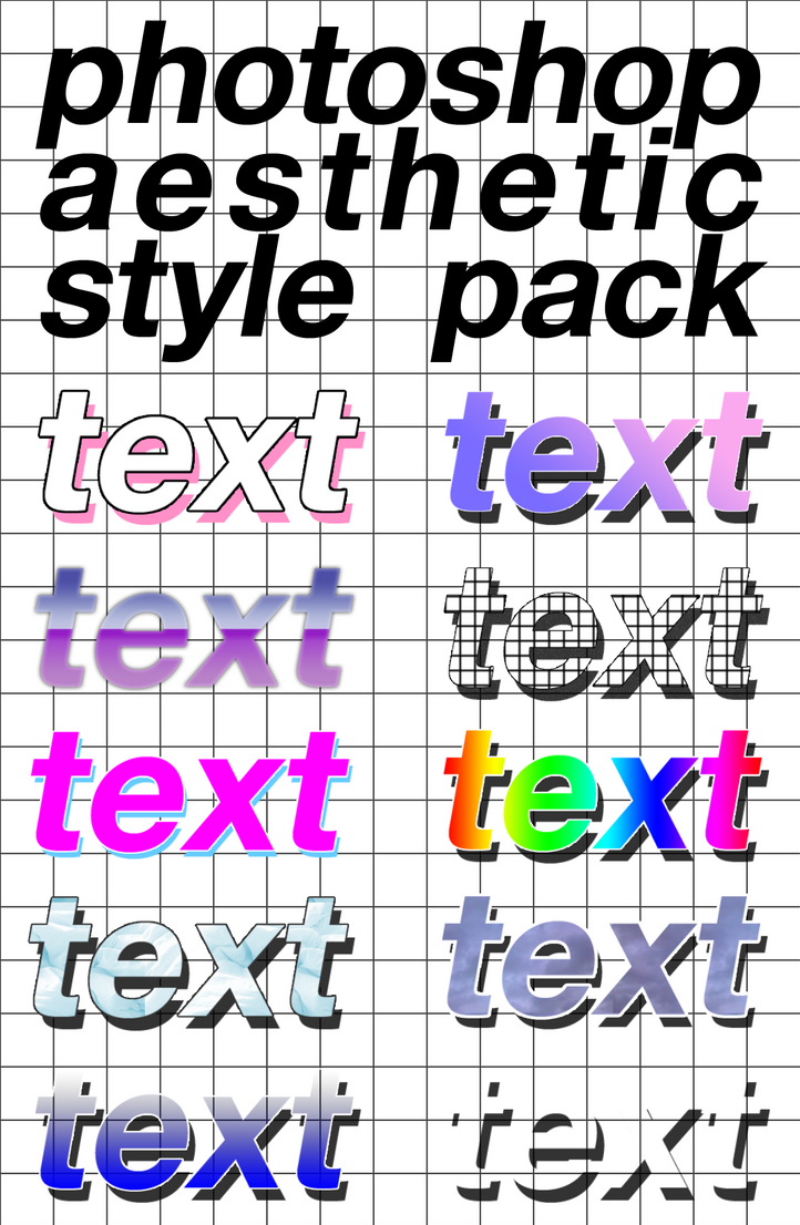 10 Photoshop Aesthetic Style Pack By Louann1812 On Deviantart